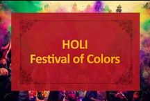HOLI - Festival of Colors / In India, Holi is a yearly celebration marking the beginning of Spring. It is a very colorful holiday with both bonfire lighting and playfully throwing of color in the air. Have your own Holi celebration with the help of Tandoor Chef's Guide to Holi!