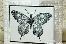Borboletas! / Borboletas... Imagens reais e trabalhos em papel cujo onde borboletas são o foco principal.