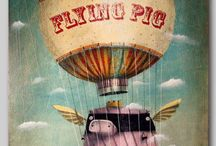 When Pigs Fly! / Flying piggie love  / by Stefanie Pawlosky