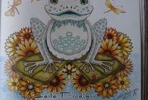 Jardim Secreto - The Secret Garden e Floresta Encantada / Pinturas do livro jardim secreto e floresta encantada.