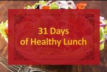 31 Days of Healthy Lunch / Brighten up your boring lunch with 31 days of health lunch options! We challenge you to try it for one month. Think you can do it?