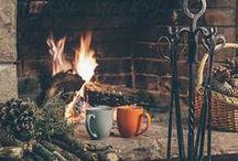 Au coin du feu ! / Une décoration cocooning comme aime ! Des plaids, des oreillers, des tapis moelleux, des bougies, poêles, cheminées.. Pour un hiver douillet au chaud !  #CdiscountDeco
