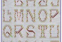 Bordado monogramas em vagonite / Monogramas bordados em vagonite