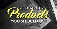 Solopreneur Products You Should Use / Business-related products I love from my business and from others. (Some I own, others I'm salivating over... Or just hoping they can help you!)