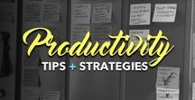 Productivity Tips + Strategies / Increase your productivity and time manage like the boss you are. Ooh, and don't forget your *free* productivity tools resource list » http://goo.gl/4yL7Bh