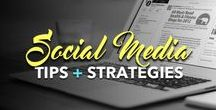 Social Media Tips + Strategies / Content and infographics to help increase your social media engagement, followers, and conversions.