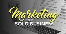 Marketing Your Solopreneur Business [Online] / Strategies to grow your business online using multiple forms of marketing—all organized in one convenient place. (Here, if you didn't already guess that...) ;-)