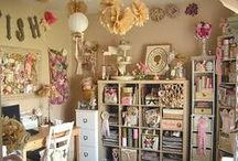 Craft Room Decor & Organization / craft room organization, craft room ideas, craft room decor, scrapbooking room