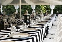 A Black & White Affair / black & white wedding decoration & theme, wedding reception, floral bouquets & decoration #ArtCarvedBridal #ArtCarvedPinterest / by ArtCarved Bridal