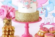 UNICORN PARTY IDEAS ✨ / Unicorn themed parties for kids and adults. DIY, recipes, games, rainbows, sparkles, desserts and birthdays.