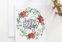 PRINTABLE CARDS & PRINTS ✨ / Free printable birthday and holiday cards. Lots of watercolor and script prints. Best of Pinterest!