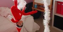 Elf of the Shelf / Funny, easy Elf on the Shelf ideas for Christmas. Your kids will laugh and these are as easy and leaving her in the fruit bowl.
