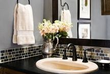 """Bathroom Renovations / Go from blah to wow, boring to whoa with these bathroom renovations and inspiration for spa-like retreats in your own home! Perfectly placed soaking tubs, bathroom sinks, mirrors and more can make all the difference in your """"new"""" bathroom."""