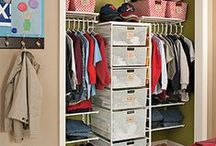 Closet Design / Bring your closet with life with storage and organization systems that make sense. Your closet, whether it's for clothes, shoes, or random junk can still be organized and pretty.