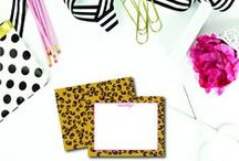 Stationery for the Animal Print Lover / Seeking safari? Love animal print? Our Camo, Leopard, Zebra, and Snake stationery products are just perfect for those who believe in walking on the wild side!