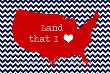 'MERICA / I'm proud to be an American, where at least I know I'm free. / by Grace Mitchell