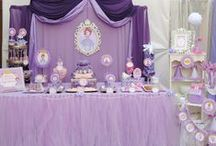 Sofia the First Birthday Ideas / Plan a party fit for a princess with these ideas and DIY's for a Sofia the First birthday party! Everything from elegant tablescapes, to homemade tiaras and perfect princess treats and cakes!