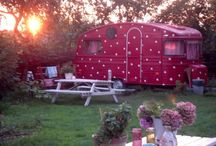glamping. / camping with sparkles.