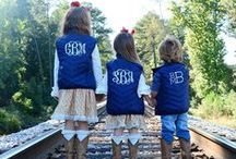 Monograms / Monograms help you define and personalize your style- in the home or on your clothes.