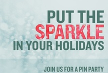 Sparkle Pin Party / Get your sparkle on this holiday season and join us for a holiday pin party hosted by party planning experts from iVillage, Whole Foods, Paperless Post, Kara's Party Ideas, and The Party Dress. Follow this board and use hashtag #sparkleparty to get the best sparkly holiday pins.