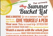 Summer Bucket List / Check these items off your list this summer and you'll have the best summer ever!