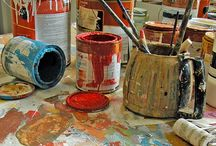 art. STUDIO / Studios I love, or things I could incorporate into my ultimate studio workspace / by Kathie Vezzani