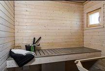 Kylpyhuone ja sauna / Älvsbytalojen kylpyhuoneita ja saunoja.