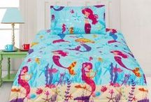 Mermaid Bedding / Mermaid bedding sets and bedroom accessories available from Kids Bedding Dreams online store. www.kidsbeddingdreams.com/mermaid-bedding