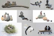 Rock, stones, pebbles, oh my! / I love collecting unique rocks from the beach, river beds, lakes, etc. Creating pieces of art from them is even better. / by Carol Wells
