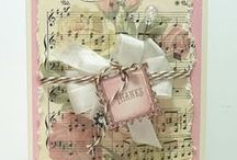 Cards with Shabby Chic style
