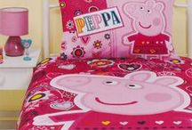 Peppa Pig Bedding / Peppa Pig bedding sets and bedroom accessories available from Kids Bedding Dreams online store. www.kidsbeddingdreams.com/peppa-pig-bedding