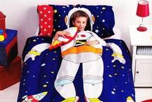 Space Bedding / Space bedding sets and bedroom accessories featuring astronauts, rockets, spaceships, satellites, planets, stars,  and the wonder and mystery of space and more available from Kids Bedding Dreams online store. www.kidsbeddingdreams.com/space-bedding