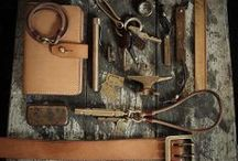 Metal, Leather, Wood / Things made from a combination of metal, leather or wood.