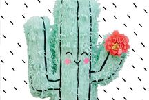 Cactus Party! / Super succulent fun! Use it for Cinco de Mayo, birthdays  or tacos and tequila! Don't forget to include our friendly cactus pinata!