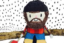 Lumberjack Party / A party where you can serve S'mores and pancakes? Yes please! Don't forget to use our lumberjack pinata as your centerpiece.