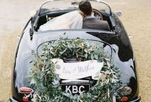 sweet wedding rides / wedding day transportation inspiration / by Kara Horner