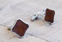 cuff links + tie clips / by Kara Horner