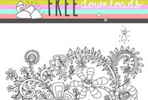 Free coloring book pages / Free coloring book page downloads at www.SincerelyJoy.com