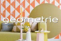 Geometrie / Een hele muur schilderen is niet noodzakelijk voor een intrigerend of speels effect. Probeer ook eens geometrische vormen toe te passen.