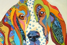 basset hound and beagle and all hounds / by Tracey B