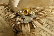 My Creations / One of a kind items using Vintage Materials and Papers, Wire, Millinery and Lace.......