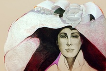Hats Make the Lady / I love the intrigue that a hat adds to the beauty of a woman. / by artist...Jackie JACOBSON