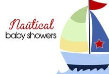 Nautical Baby Showers / Nautical Baby Showers, Sailboat baby shower, Anchor Baby Shower, Ahoy it's a Boy!