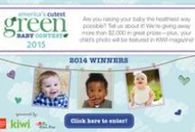America's Cutest Green Baby Contest / Send us a photo of your little one and tell us, in 200 words or less, what you're doing to bring up your baby the KIWI way—natural and organic. You could win $1,000, products from Love Child Organics, plus a feature in KIWI magazine!  Enter here: www.kiwimagonline.com/ACGB2015 / by KIWI Magazine