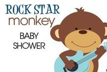 Rock Star Monkey / Our cute monkey with guitar is perfect for a baby boy rock star baby shower!