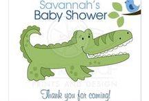 Alligator Baby Showers / Alligator Baby Showers, Crocodile Baby Showers, Baby Boy Alligator Shower, Baby Girl Alligator Shower