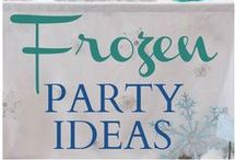 Frozen Party / Inspiration for Frozen crafts and Frozen party ideas. Elsa and Anna party accessories!
