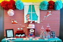 Dr. Seuss Party Inspiration / Craft and party inspiration for a Dr. Seuss birthday party!