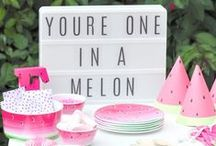 Watermelon Party / Fun decorations and crafts for a summer Watermelon party!