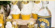 Bumble Bee Party / Bumble Bee Party inspiration. Bumble Bee Craft Inspiration Bumble Bee Food